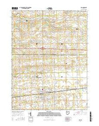 Ada Ohio Current topographic map, 1:24000 scale, 7.5 X 7.5 Minute, Year 2016