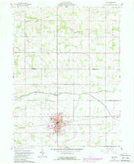 Ada Ohio Historical topographic map, 1:24000 scale, 7.5 X 7.5 Minute, Year 1961
