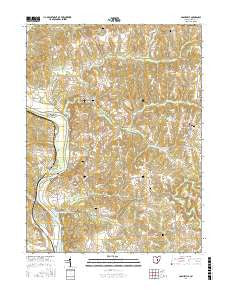 Adamsville Ohio Current topographic map, 1:24000 scale, 7.5 X 7.5 Minute, Year 2016