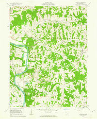Adamsville Ohio Historical topographic map, 1:24000 scale, 7.5 X 7.5 Minute, Year 1962