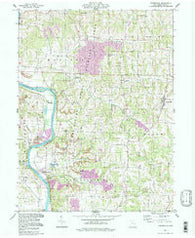 Adamsville Ohio Historical topographic map, 1:24000 scale, 7.5 X 7.5 Minute, Year 1994