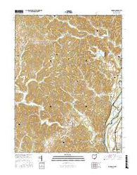 Addison Ohio Current topographic map, 1:24000 scale, 7.5 X 7.5 Minute, Year 2016