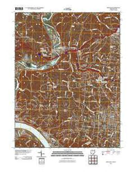 Addyston Ohio Historical topographic map, 1:24000 scale, 7.5 X 7.5 Minute, Year 2010