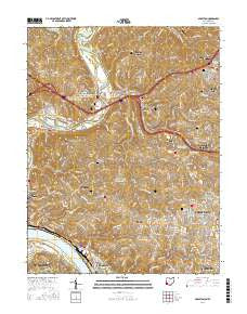 Addyston Ohio Current topographic map, 1:24000 scale, 7.5 X 7.5 Minute, Year 2016