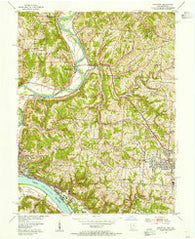 Addyston Ohio Historical topographic map, 1:24000 scale, 7.5 X 7.5 Minute, Year 1954