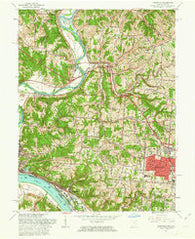 Addyston Ohio Historical topographic map, 1:24000 scale, 7.5 X 7.5 Minute, Year 1960