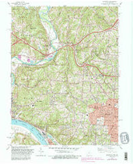 Addyston Ohio Historical topographic map, 1:24000 scale, 7.5 X 7.5 Minute, Year 1982