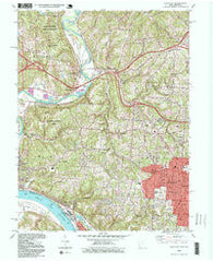 Addyston Ohio Historical topographic map, 1:24000 scale, 7.5 X 7.5 Minute, Year 1996