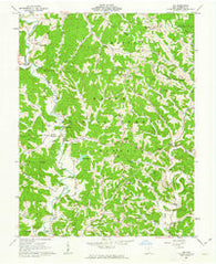 Aid Ohio Historical topographic map, 1:24000 scale, 7.5 X 7.5 Minute, Year 1961