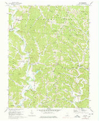 Aid Ohio Historical topographic map, 1:24000 scale, 7.5 X 7.5 Minute, Year 1972