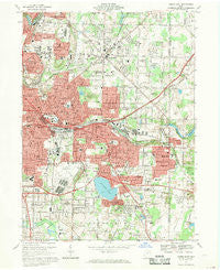 Akron East Ohio Historical topographic map, 1:24000 scale, 7.5 X 7.5 Minute, Year 1967