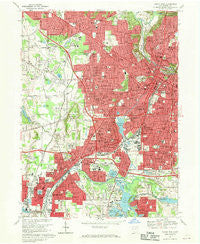 Akron West Ohio Historical topographic map, 1:24000 scale, 7.5 X 7.5 Minute, Year 1967