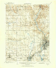 Akron Ohio Historical topographic map, 1:62500 scale, 15 X 15 Minute, Year 1903