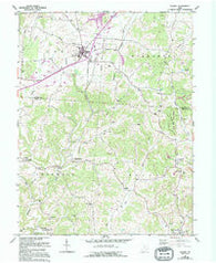 Albany Ohio Historical topographic map, 1:24000 scale, 7.5 X 7.5 Minute, Year 1960