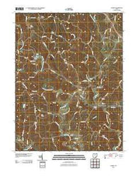 Alfred Ohio Historical topographic map, 1:24000 scale, 7.5 X 7.5 Minute, Year 2010