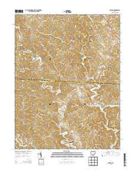 Alfred Ohio Historical topographic map, 1:24000 scale, 7.5 X 7.5 Minute, Year 2013