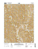 Alfred Ohio Current topographic map, 1:24000 scale, 7.5 X 7.5 Minute, Year 2016 from Ohio Map Store