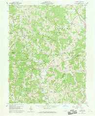 Alfred Ohio Historical topographic map, 1:24000 scale, 7.5 X 7.5 Minute, Year 1960