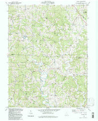 Alfred Ohio Historical topographic map, 1:24000 scale, 7.5 X 7.5 Minute, Year 1994