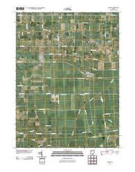 Alger Ohio Historical topographic map, 1:24000 scale, 7.5 X 7.5 Minute, Year 2010