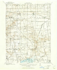 Alger Ohio Historical topographic map, 1:62500 scale, 15 X 15 Minute, Year 1913