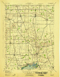 Alger Ohio Historical topographic map, 1:62500 scale, 15 X 15 Minute, Year 1943