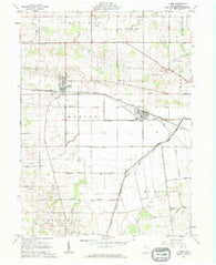 Alger Ohio Historical topographic map, 1:24000 scale, 7.5 X 7.5 Minute, Year 1961