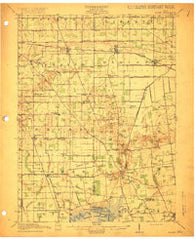 Alger Ohio Historical topographic map, 1:62500 scale, 15 X 15 Minute, Year 1915