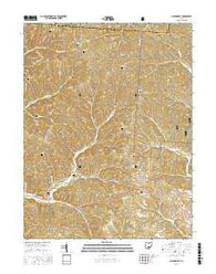 Allensville Ohio Current topographic map, 1:24000 scale, 7.5 X 7.5 Minute, Year 2016