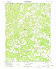 Allensville Ohio Historical topographic map, 1:24000 scale, 7.5 X 7.5 Minute, Year 1961