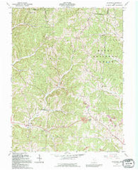 Allensville Ohio Historical topographic map, 1:24000 scale, 7.5 X 7.5 Minute, Year 1992