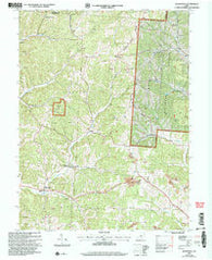 Allensville Ohio Historical topographic map, 1:24000 scale, 7.5 X 7.5 Minute, Year 2002