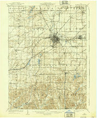 Alliance Ohio Historical topographic map, 1:62500 scale, 15 X 15 Minute, Year 1909