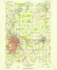 Alliance Ohio Historical topographic map, 1:24000 scale, 7.5 X 7.5 Minute, Year 1952