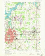 Alliance Ohio Historical topographic map, 1:24000 scale, 7.5 X 7.5 Minute, Year 1966