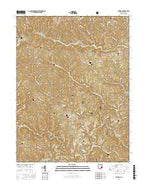 Antioch Ohio Current topographic map, 1:24000 scale, 7.5 X 7.5 Minute, Year 2016 from Ohio Map Store