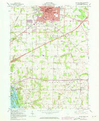 Ashland South Ohio Historical topographic map, 1:24000 scale, 7.5 X 7.5 Minute, Year 1961