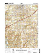 Ashland South Ohio Current topographic map, 1:24000 scale, 7.5 X 7.5 Minute, Year 2016 from Ohio Map Store