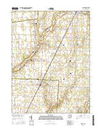 Ashley Ohio Current topographic map, 1:24000 scale, 7.5 X 7.5 Minute, Year 2016 from Ohio Map Store