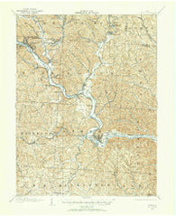 Athens Ohio Historical topographic map, 1:62500 scale, 15 X 15 Minute, Year 1903