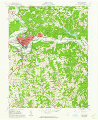 Athens Ohio Historical topographic map, 1:24000 scale, 7.5 X 7.5 Minute, Year 1961