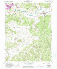 Bainbridge Ohio Historical topographic map, 1:24000 scale, 7.5 X 7.5 Minute, Year 1961