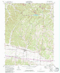 Beaver Ohio Historical topographic map, 1:24000 scale, 7.5 X 7.5 Minute, Year 1961