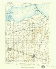 Bellevue Ohio Historical topographic map, 1:62500 scale, 15 X 15 Minute, Year 1901