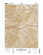 Bethesda Ohio Current topographic map, 1:24000 scale, 7.5 X 7.5 Minute, Year 2016 from Ohio Map Store