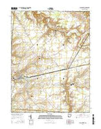 Blanchester Ohio Current topographic map, 1:24000 scale, 7.5 X 7.5 Minute, Year 2016 from Ohio Map Store