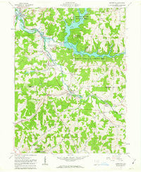 Bowerston Ohio Historical topographic map, 1:24000 scale, 7.5 X 7.5 Minute, Year 1961
