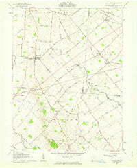 Bowersville Ohio Historical topographic map, 1:24000 scale, 7.5 X 7.5 Minute, Year 1961