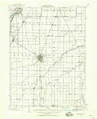 Bowling Green Ohio Historical topographic map, 1:62500 scale, 15 X 15 Minute, Year 1901