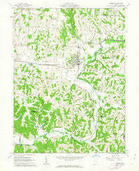 Bremen Ohio Historical topographic map, 1:24000 scale, 7.5 X 7.5 Minute, Year 1961